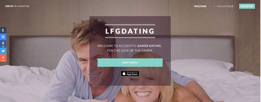LFGdating main page