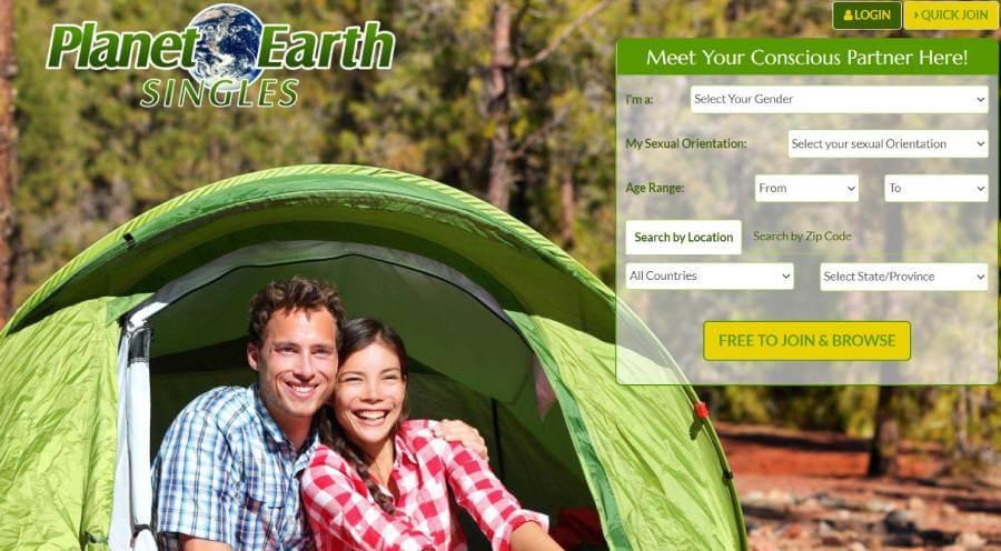 PlanetEarthSingles main page