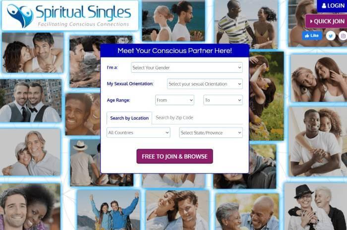 SpiritualSingles sign up